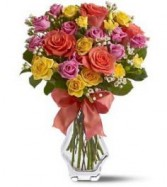 Rainbow Sherbert  Roses Get Well