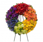 Rainbow Sympathy Wreath