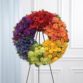 Rainbow Wreath Sympathy