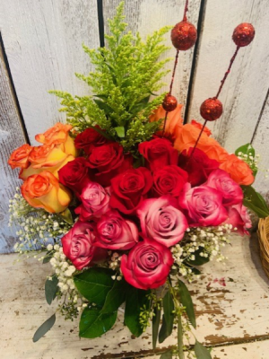 Rainbow/Roses 4 color/ 3 dox. assorted in Sherman, TX   COUNTRY FLORIST