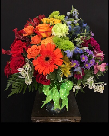 Rainbows in the sky Vase arrangement