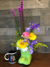 Brighten your Day Rainboots Bouquet