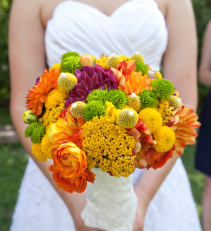 Ranunculus and Dahlias  Bridal Bouquet