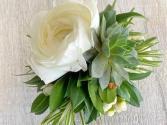 Ranunculus & Succulent Corsage