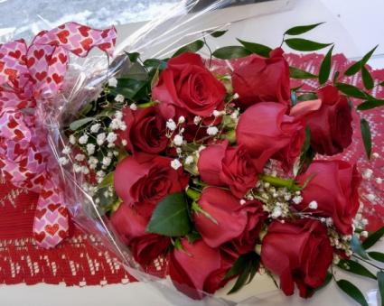 Rapt in Love Wrapped Cut Flowers