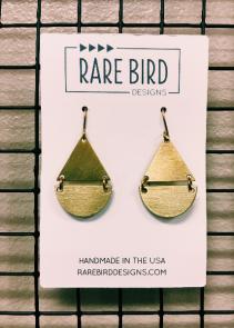 Rare Bird Earrings  Tear Drops