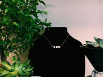 Rare Bird Necklace Triple Pyrite
