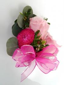 Raspberry Sorbet  Prom Corsage