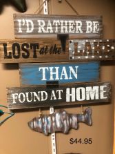 rather be fishing wall hanging