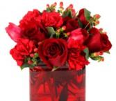 Ravishing Red Cube Vase