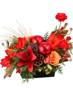Ravishing Rich Red Christmas Arrangement in Talladega, AL | GAITHER'S FLORIST