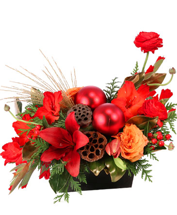 Ravishing Rich Red Christmas Arrangement