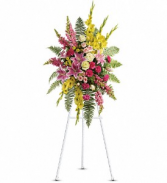 Rays of Light Standing Spray Fresh Floral Arrangement