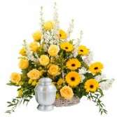 Rays of Sunshine Basket Surround Arrangement