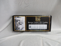 Raz LED Remote Candle Lights Set of 10