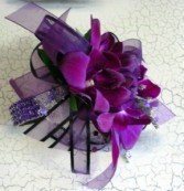 Razzed Purple Orchid Wrist Corsage