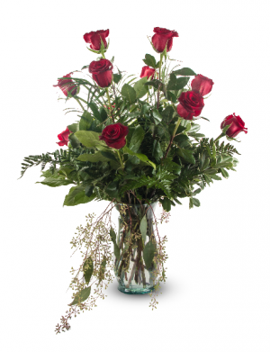 Ready For Romance- BBS 9 All around arrangement in Roswell, NM | BARRINGER'S BLOSSOM SHOP