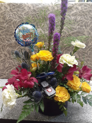 Ready for the Hot Wheels Baby Boy Arrangement in Osoyoos, BC | Osoyoos Flowers