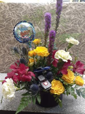 Hot Wheels Baby Boy Arrangement in Osoyoos, BC | Osoyoos Flowers