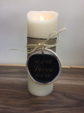 Realight personalized candle Engraved gift