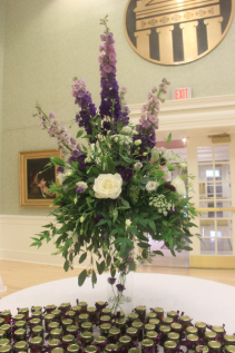 Reception Wedding Centerpiece Fresh Vased Arrangement