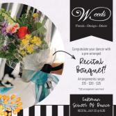 Recital Fresh Flower Bouquet  Wrapped Bouquet