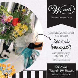 Recital Fresh Flower Bouquet  Wrapped Bouquet  in Dixon, IL | WEEDS FLORALS, DESIGN & DECOR