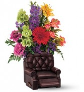 Recliner with Flowers Fathe'rs Day