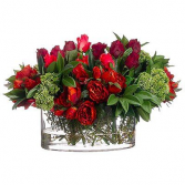 Rec/Vase/red & Burgundy peony, amaryllis, rosés Valentine