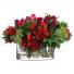 Rec/Vase/red & Burgundy peony, amaryllis, rosés