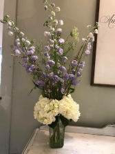 Recycled Glass Vase Arrangement