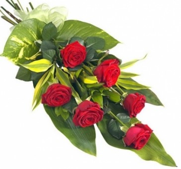 6 CLASSIC RED ROSES GIFT WRAP BOUQUET