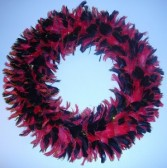 Red and Black Feather Wreath