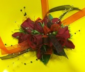Red and Black  PROM FLOWERS