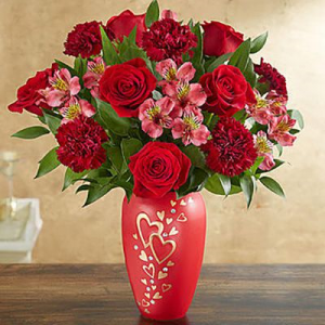 HEARTS IN FLIGHT VASE in Peoria Heights, IL | The Flower Box