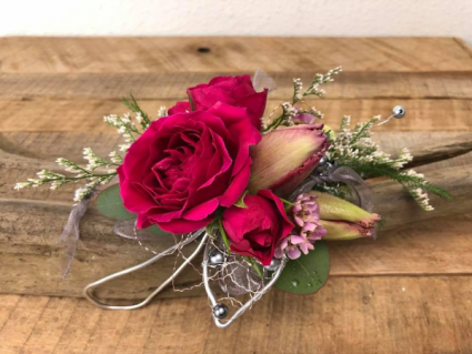 Red and Pink  Corsage