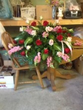 Red and Pink  Funeral Arrangement