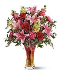 RED AND PINK PREMIUM FLUER VASE