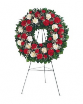Red and White Carnation Wreath Funeral/memorial