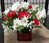 Red And White Delight Valentine Arrangement