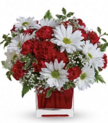 Red and white delight  Vase