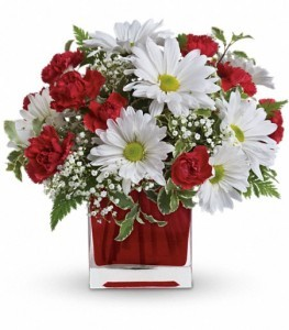 Red and White Delight Floral Bouquet