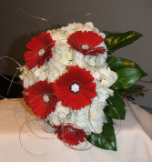 Red and White Elegance Handheld Bouquet