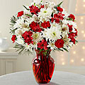 Red and White Holiday Vase