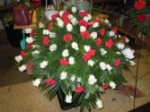Red and White Rose (C31) Casket Spray
