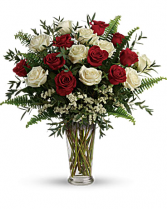 Red and White rose mix valentines