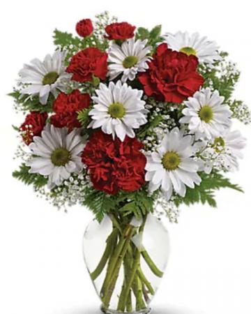 Red and white Vase  Vase