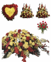 Red and Yellow funeral Premium 1 Package