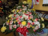 Red and Yellow Mix (TB34) Funeral Basket