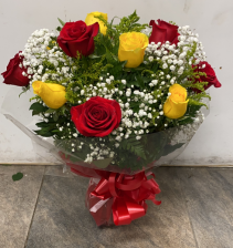 Red and yellow roses Birthday